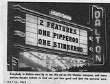 May 16, 1948 newspaper image of the Dalton marquee courtesy of Gene Burchfield.