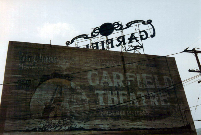 Garfield Theatre exterior Stagehouse Theatre sign