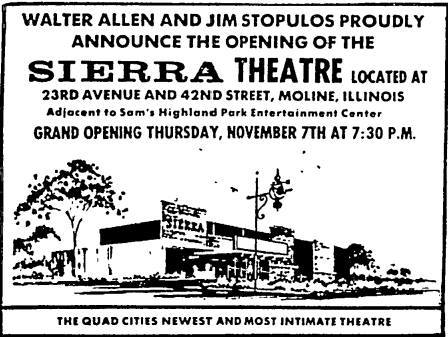 1968 Grand Opening ad courtesy of the Retro Quad Cities Facebook page.
