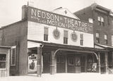 "1925 photo of theater known as ""Nedsen Theater"" at the time"