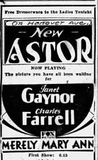 1931 New Astor Theater Advertisement