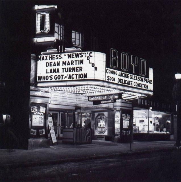 1962 Allentown Boyd Theatre photograph
