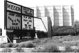 Mission Drive-In marquee 1958