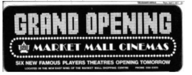 Market Mall opening ad
