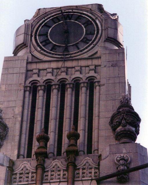 Tower Theatre exterior Clock