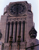 Tower Theatre exterior Clock