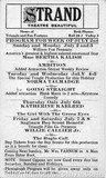 Saginaw Strand Theatre program for the week of July 2, 1916