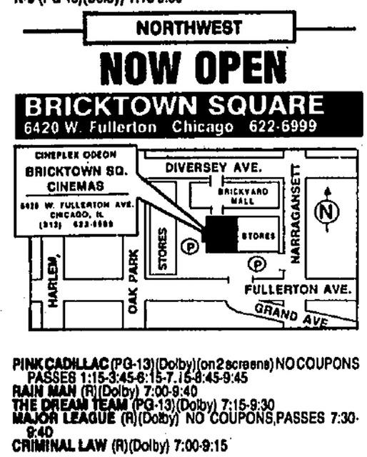 May 31, 1989 Opening Week Advertisement