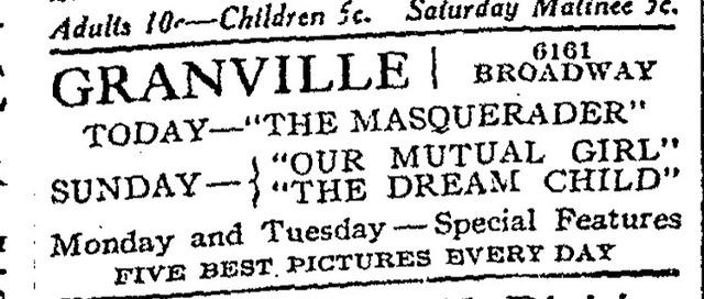Granville Theatre, Chicago, IL USA
