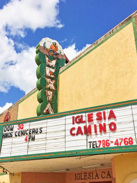 Mexia Theater, Sign and Marquee