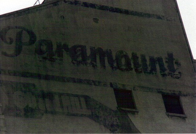 Paramount Theatre Painted wall sign