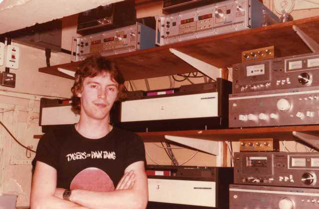 Me in the Gaumont/Focus's projection box 1984