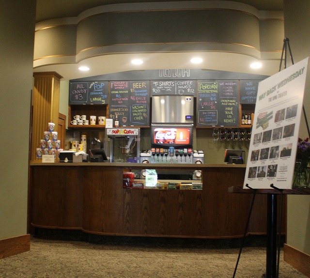 Concessions of the restored Iowa Theater