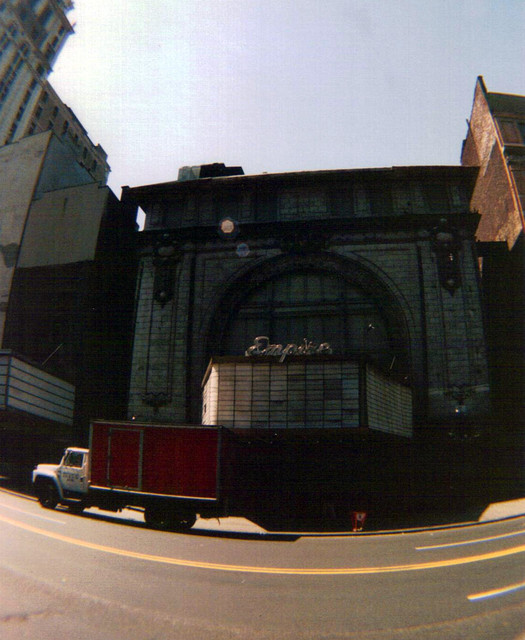 Empire Theatre exterior before the move down the street