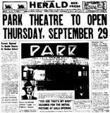 Park Theatre Grand Opening 1949