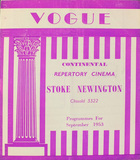 Stoke Newington Vogue Cinema programme Sept 1953