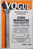 Stoke Newington Vogue Cinema programme April 1948