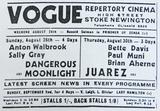 Vogue Cinema Press Ad 1945