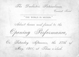 OPening ticket for Darlaston Picturedrome