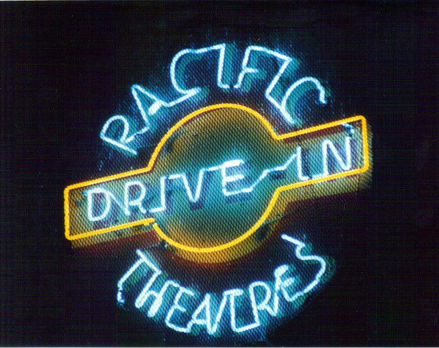 Pacific Theatres Drive-In neon sign
