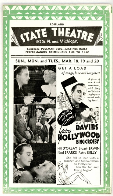 Herald from the State Theatre from March, 1934