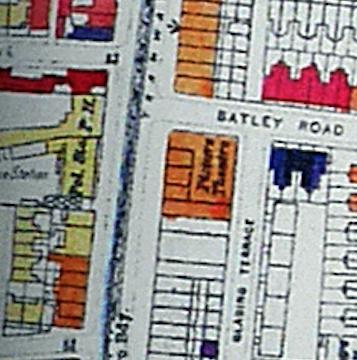 Stoke Newington Map from 1950 (showing bomb damage)