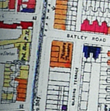 Stoke Newington Map from 1950 (showing bomb damage)