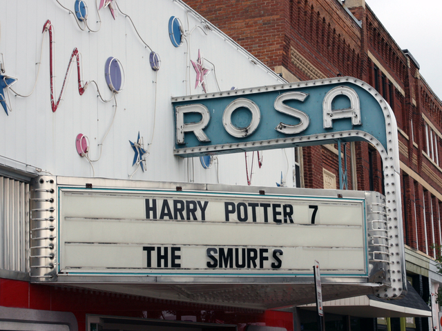 Rosa Theatre, Waupaca, WI - marquee
