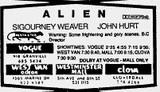 Alien listing
