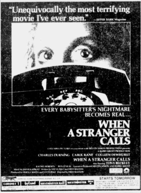 When A Stranger Calls listing
