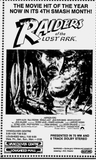 Raiders of the Lost Ark listing