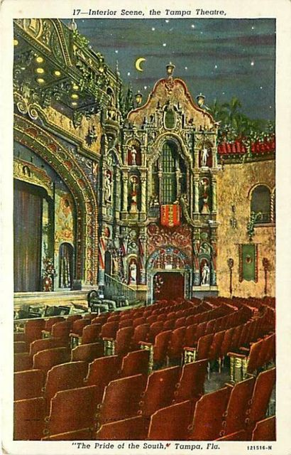 Postcard of Interior of Tampa Theatre