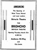 Broncho Drive-In