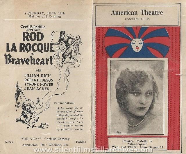 American Theater Program for June, 1926