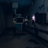 Projection Room with Flashlight