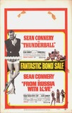 THUNDERBALL FROM RUSSIA WITH LOVE- BOND SALE POSTER