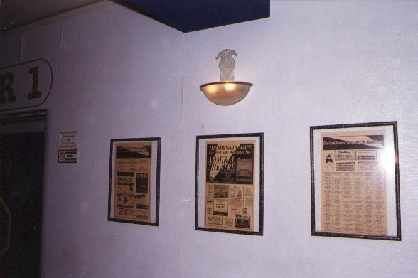 History articles on wall