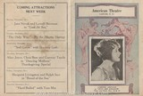 American Theater Program for November 15, 1926