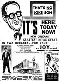<p>Joy Grand opening ad February 7th, 1947</p>