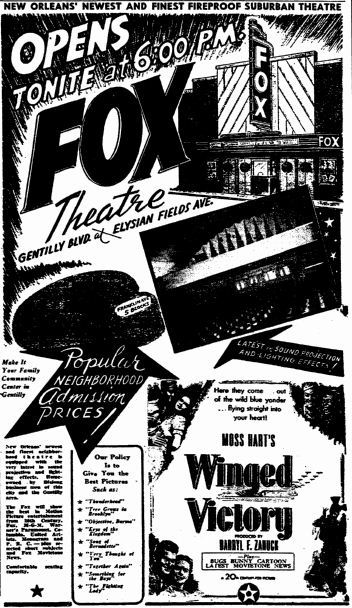 June 19th, 1945 grand opening ad