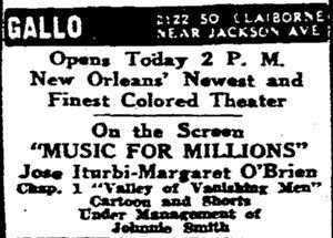 June 8th, 1946 grand opening ad