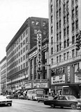 Loew's State Theatre exterior and the nearby Palace and Ohio Theatres