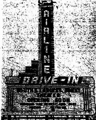 Airline Drive-In picture January 25th, 1950