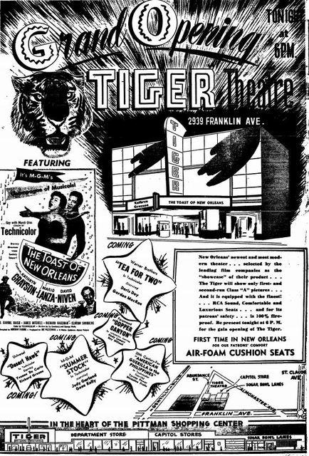 November 3rd, 1950 grand opening ad