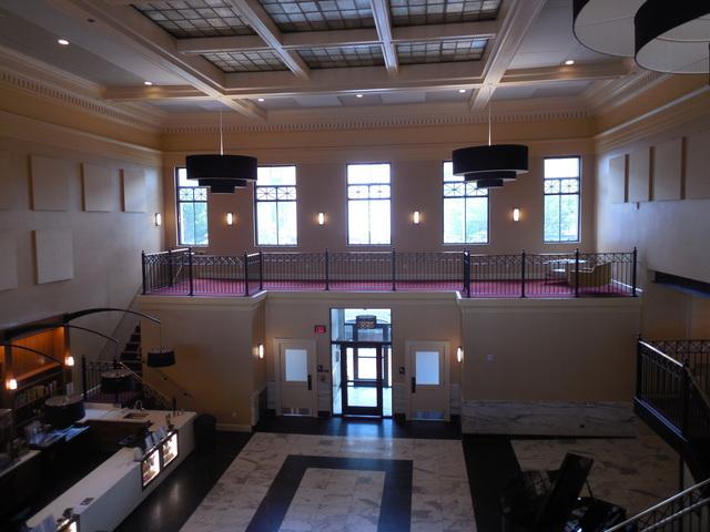 6-25-17 facing Bridge St, ex bank lobby from upstairs
