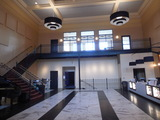6-25-17 ex bank lobby, facing entries to new auditoriums