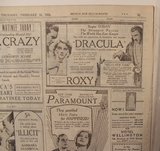 Opening Day Ad for DRACULA ~Starring Bela Lugosi 1931