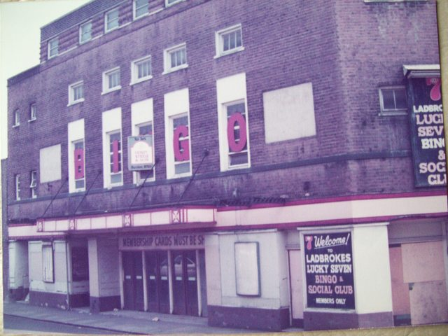 Closed as bingo hall in aug 1984