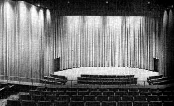 Pacific's Picwood Theatre auditorium after the remodel in the mid 1960's