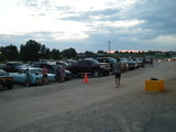 Terrace Drive-In parking lot before the movie (07-01-2017) - View 2